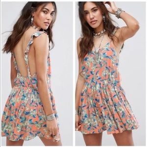 NWT $98 Free People Dear You Floral Ruffle Dress